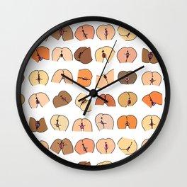 Vulva Butts Wall Clock