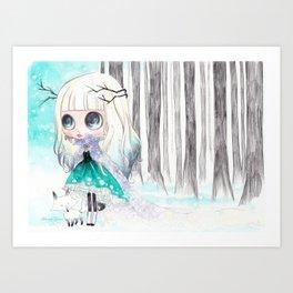 Tegan Fox - Blythe doll inspiration Art Print