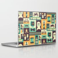 risa rodil Laptop & iPad Skins featuring Empty Hearse by Risa Rodil