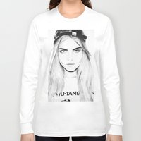 cara Long Sleeve T-shirts featuring Cara  by Chris Samba