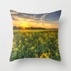 The April Field Throw Pillow