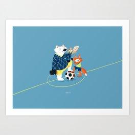 Best soccer friends Art Print