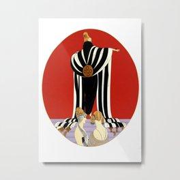 """Art Deco Illustration """"Monaco Fashion"""" Metal Print"""