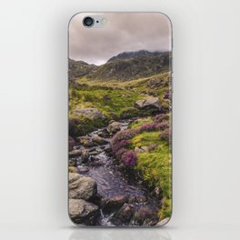 Cwm Idwal Snowdonia Eryri Walk Mountain Heather Wales iPhone Skin