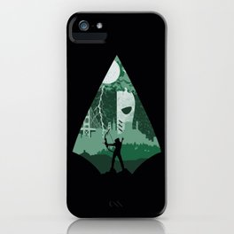 Arrow green iPhone Case