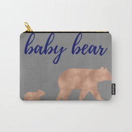Baby Bear - Navy Rose Gold Carry-All Pouch