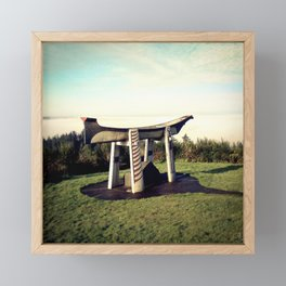 Indian Burial Canoe Oregon Framed Mini Art Print