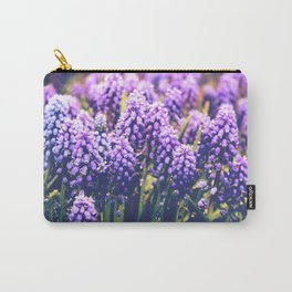 Vintage purple flowers Carry-All Pouch