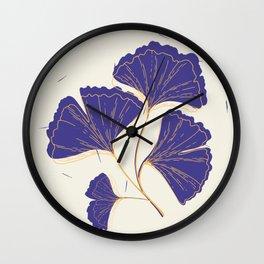Purple Lotus Leaves Wall Clock