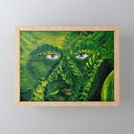 Garden Guardian Hurricane Gnome Framed Mini Art Print