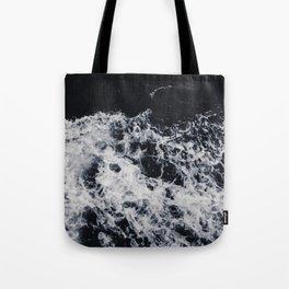 OCEAN - WAVES - SEA - ROCKS - DARK - WATER Tote Bag