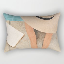 On the edge of the Pool II Rectangular Pillow