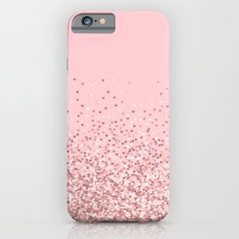 Blush Pink Glitter iPhone Case