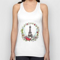 cooking Tank Tops featuring French Cooking by Grace Anderson