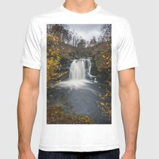 Falls of Falloch MEDIUM White Mens Fitted Tee