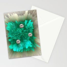 Diamonds in Emerald-Fire Stationery Cards