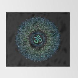 pranava yoga Throw Blanket