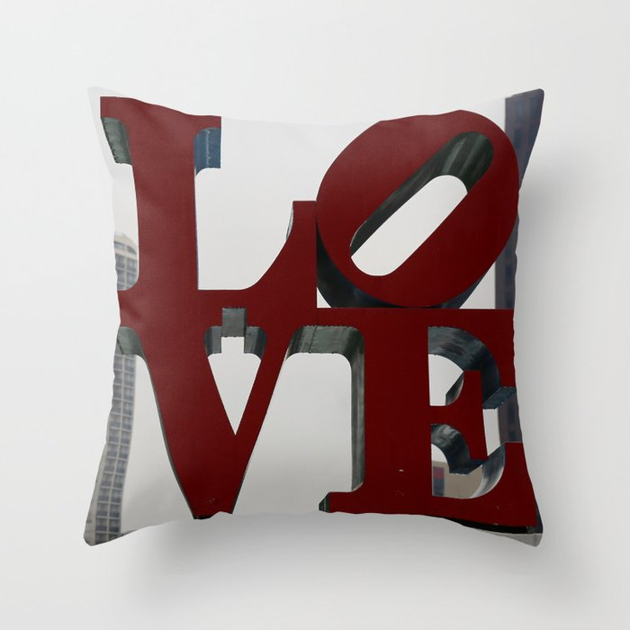 Love Philadelphia Sculpture Throw Pillow by Christine aka stine1