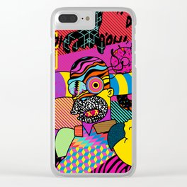 Trippin' Homer Clear iPhone Case