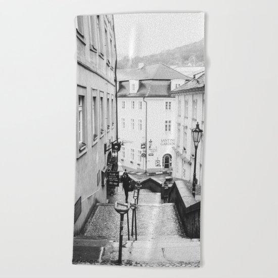 Streets Of Prague Beach Towel