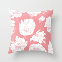 Bloomin' Pink Throw Pillow