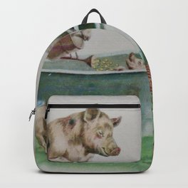 Mummy and Daddy pig washing their piglets Backpack