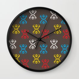 Indian Motifs Wall Clock