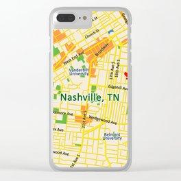 Map of Nashville, TN Clear iPhone Case