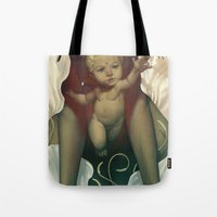 religious Tote Bags featuring Singularity by Dave E. Phillips