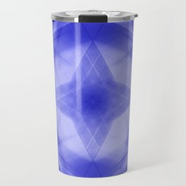 Vintage triangular strokes of intersecting sharp lines with indigo triangles and a star. Travel Mug