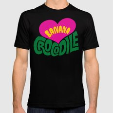 Banana Love and the Crocodile  Black Mens Fitted Tee MEDIUM