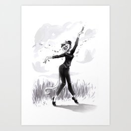 Dancing with the wind Art Print