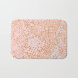 Tokyo map, Japan Bath Mat