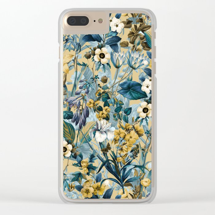 Summer Botanical Garden III Clear iPhone Case