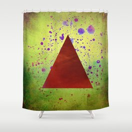 Triangle Composition Shower Curtain