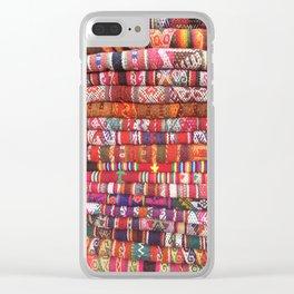 Peruvian Textiles Clear iPhone Case