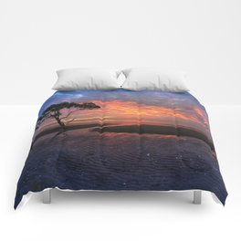 Colorful Sunset on the Beach Comforters