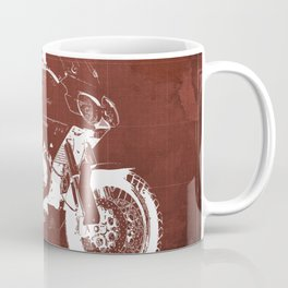 2010 Moto Guzzi Stelvio 1200 4V red blueprint Coffee Mug