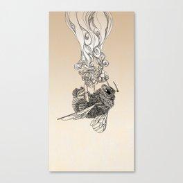 Bumlebee & flowers Canvas Print