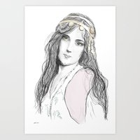 boho Art Prints featuring Boho by Lyndsey Ferguson