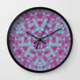 Triangle mandala 2 Wall Clock