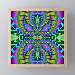 Tribal Rainbow Lotus Framed Mini Art Print