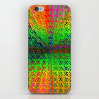 psychedelic iPhone & iPod Skins featuring Psychedelic by Debbie Clayton