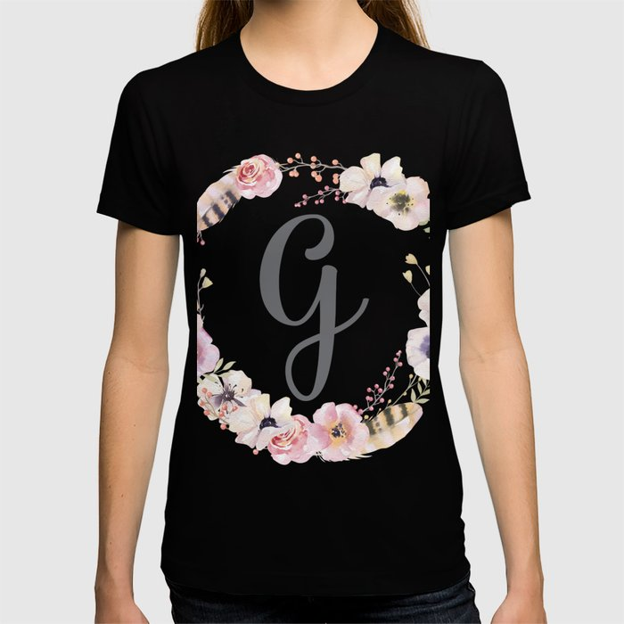 Floral Wreath - G T-shirt
