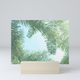 Nature photography tropical vibe vintage palm leaf II Mini Art Print