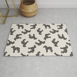 Hand drawn cute greyhouse race puppy.  Rug