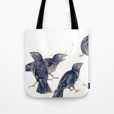 Gossip of the Crows Tote Bag