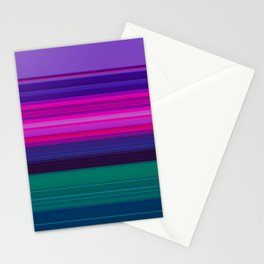 Vibrant Purple Pink and Green Stripes Stationery Cards