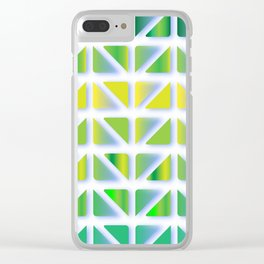 Geometric Forest Clear iPhone Case