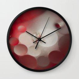 Heart and Bubbles Wall Clock